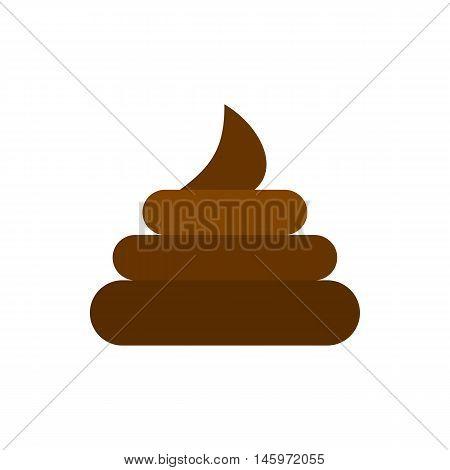 Turd icon in flat style isolated on white background. Joke symbol vector illustration