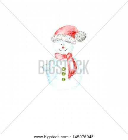 Snowman With A Hat Joyful