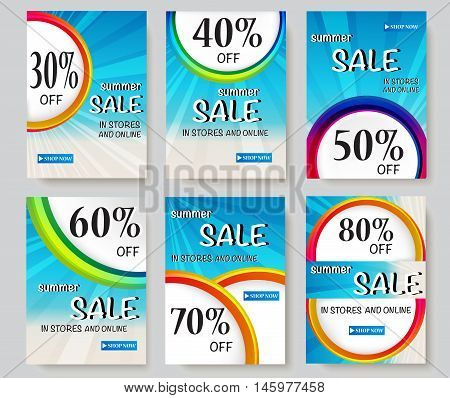 Social media sale banners and ads web template collection. Vector illustrations for website and mobile website banners, posters, email and newsletter designs, ads, promotional material. - stock vector