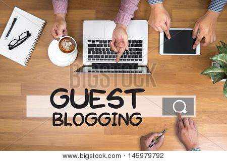 GUEST BLOGGING  man use computer business