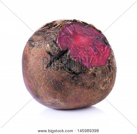 Closeup Beetroot on white background. food. Beetroot