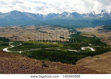 Altay Mountains, Chuya River And Kuray Steppe