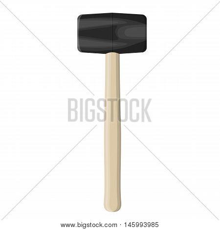 Rubber Mallet Hammer. Vector Illustration
