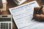 Application for Permit Form Authority Concept poster