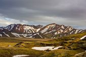 Landmannalaugar - beautiful view of the Landscape in Iceland poster
