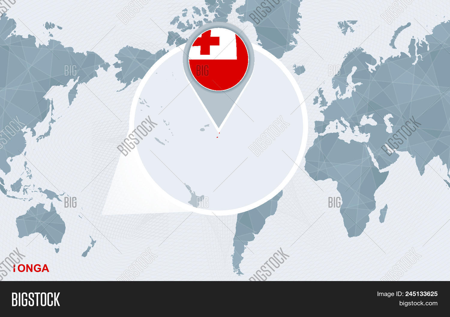 Image of: World Map Centered On Vector Photo Free Trial Bigstock