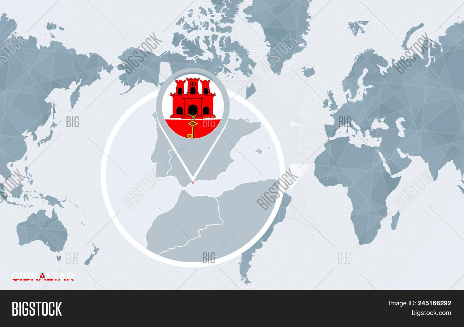 World Map Centered On Vector & Photo (Free Trial) | Bigstock