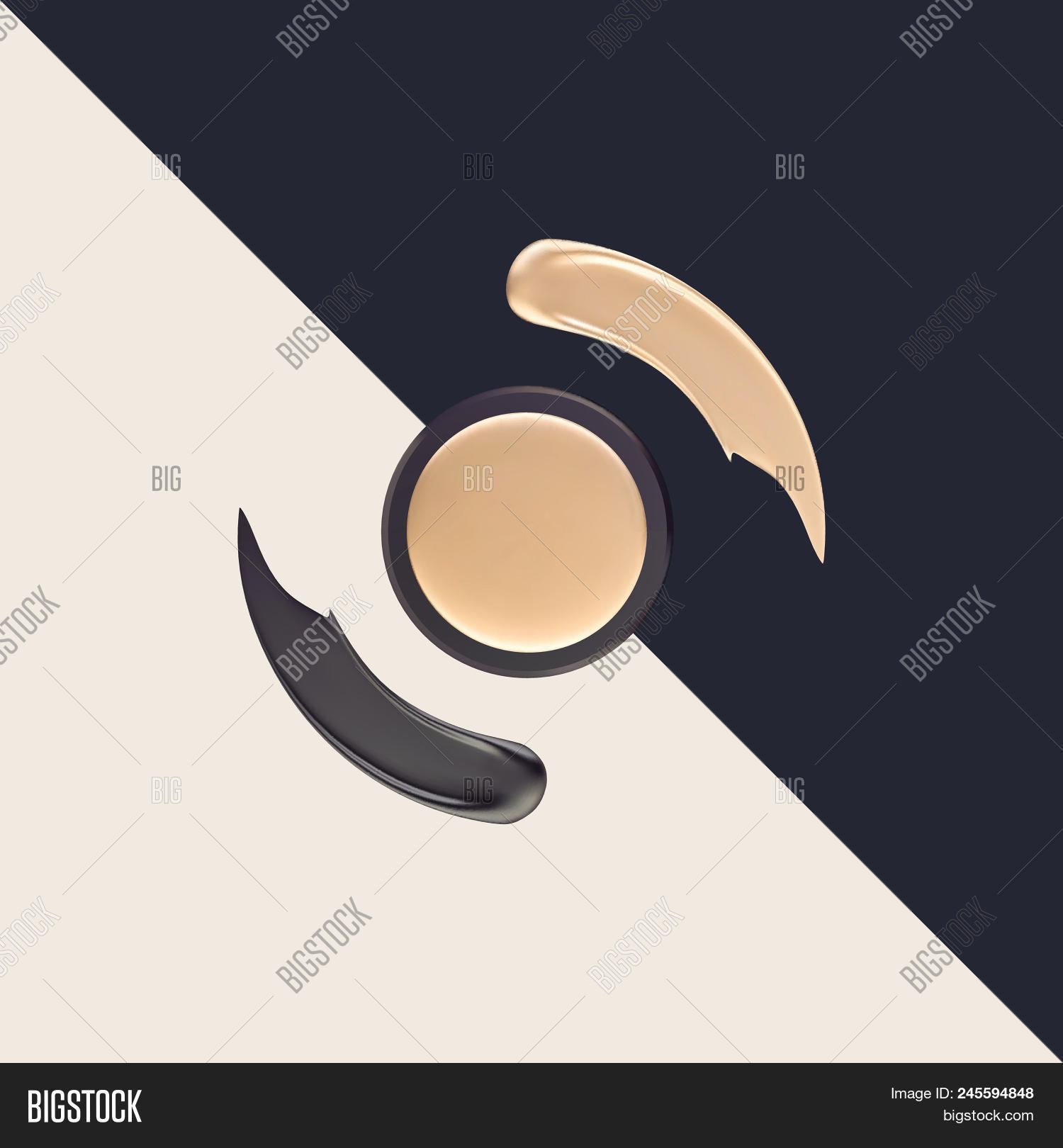 Makeup Smear Logo  Vector & Photo (Free Trial) | Bigstock