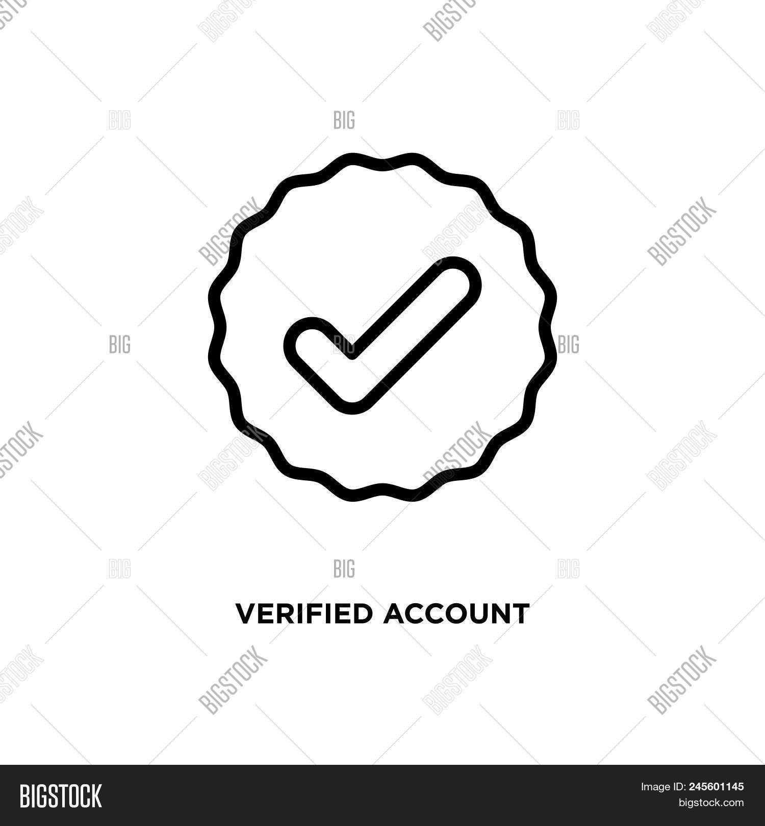 Verified Account Vector Photo Free Trial Bigstock
