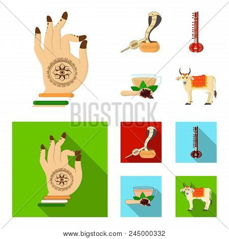 Country India Cartoon, Flat Icons In Set Collection For Design.india And Landmark Vector Symbol Stoc