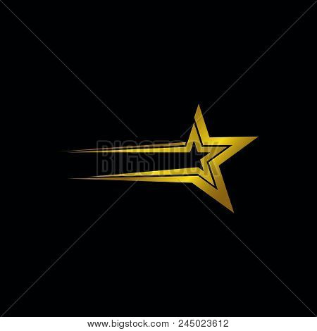 Star Gold Vector Logo, Star Icon Color, Star Rating, Ranking. The Astrological Star Symbol. Logotype