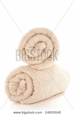 Soft And Fluffy Beige Cotton Bath Towels