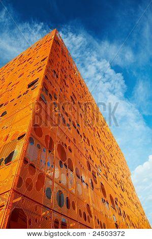 Modern orange building