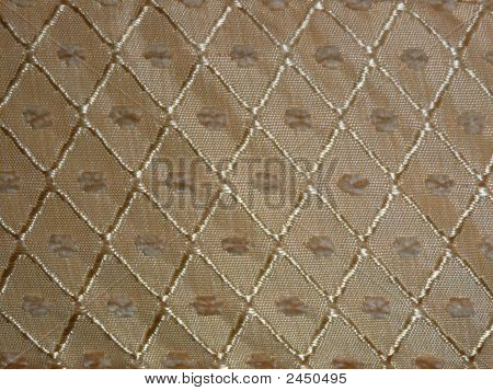 Picture of linen material. Perfect use as a background. Color: yellow/gold with a pattern. poster