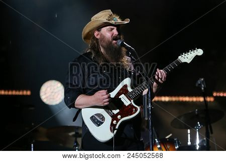 NASHVILLE, TN - June 9: Singer Chris Stapleton performs at the 2018 CMA Fest at Nissan Stadium on June 9, 2018 in Nashville, Tennessee.