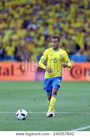 Nice, France - June 22, 2016: Defender Martin Olsson Of Sweden In Action During The Uefa Euro 2016 G