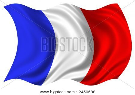 France Flag Psd