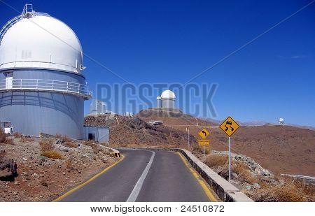 Chile, Atacama Desert, La Silla ESO telescopes