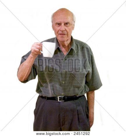 Senior Coffee Drinker