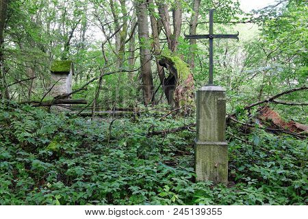 Iron Cross In A Defunct Village, Czech Republic
