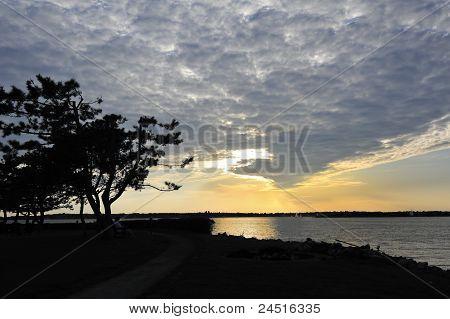 Dramatic Sunset Newport Rhode Island