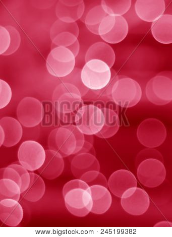 Abstract Blurred And Bokeh Of Decorated Lighting In Red And Pink Color Gradations