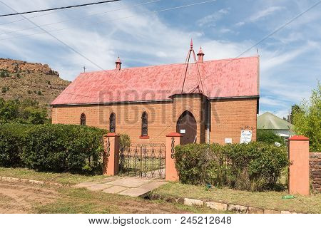 Lady Grey, South Africa - March 29, 2018: The Historic Anglican Church In Lady Grey In The Eastern C