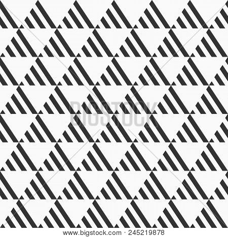 Abstract Seamless Pattern. Modern Stylish Texture. Repeating Geometric Tiles From Striped Bold Trian