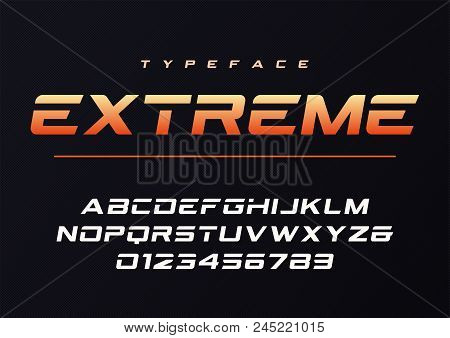 Extreme Trendy Futuristic And Sports Font Design, Alphabet, Typeface, Typography