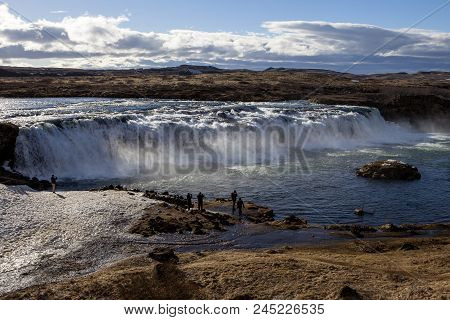 The Faxi Waterfall Is Part Of The Golden Circle In Iceland