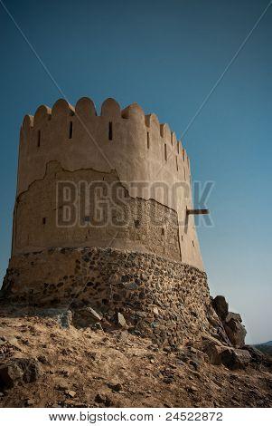 Minaret of Ancient Mosque at Al Bidyah
