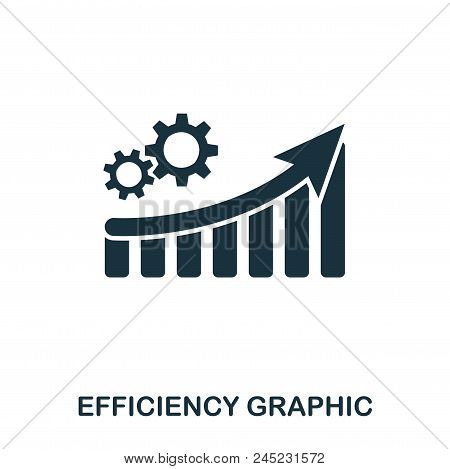 Efficiency Increase Graphic Icon. Mobile Apps, Printing And More Usage. Simple Element Sing. Monochr
