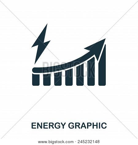 Energy Increase Graphic Icon. Mobile Apps, Printing And More Usage. Simple Element Sing. Monochrome