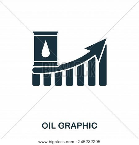 Oil Increase Graphic Icon. Mobile Apps, Printing And More Usage. Simple Element Sing. Monochrome Oil