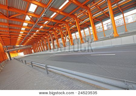 Interior Of Urban Tunnel Without Traffic