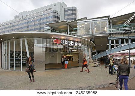 London, United Kingdom - November 24, 2013: Newly Renovated Blackfriars Bridge Station At Southwark
