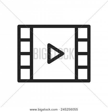 Video Player Icon Simple Vector Sign And Modern Symbol. Video Player Vector Icon Illustration, Edita