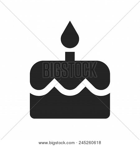 Birthday Cake Icon Simple Vector Sign And Modern Symbol. Birthday Cake Vector Icon Illustration, Edi