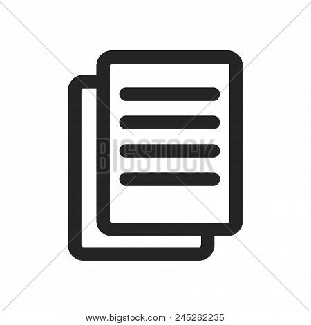 Text Documents Icon Simple Vector Sign And Modern Symbol. Text Documents Vector Icon Illustration, E