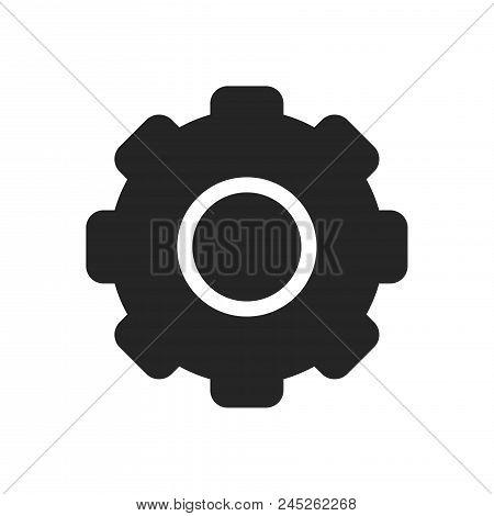 Gear Icon Simple Vector Sign And Modern Symbol. Gear Vector Icon Illustration, Editable Stroke Eleme