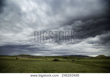 Storm In The Field, Detail Of Rain Clouds