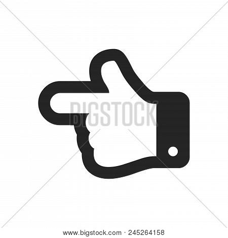 Hand Pointing To Left Direction Icon Simple Vector Sign And Modern Symbol. Hand Pointing To Left Dir