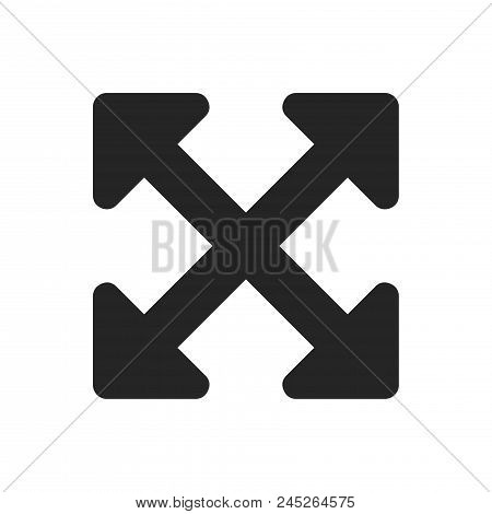 Full Screen Icon Simple Vector Sign And Modern Symbol. Full Screen Vector Icon Illustration, Editabl
