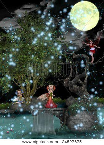 Fairies Playing.