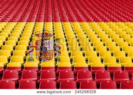 Spain Flag Stadium Seats, Spain Stadium Flag