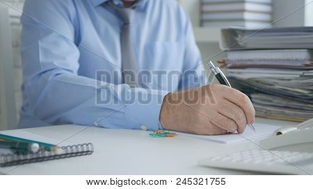 Accounting Manager Image Signing Accounting Documents And Contracts