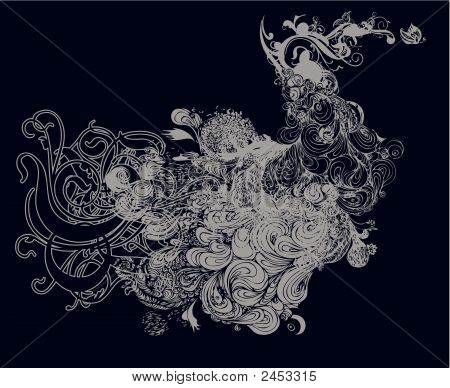 Butterfly Affect Grunge Vector Illustration