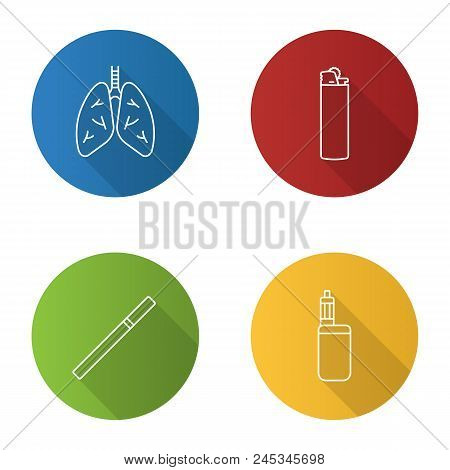 Smoking Flat Linear Vector & Photo (Free Trial)   Bigstock