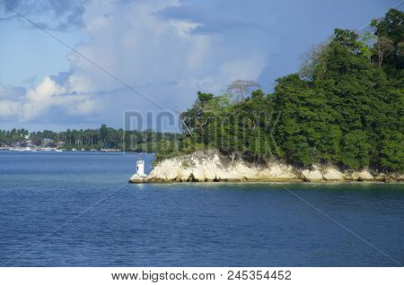 The Light House Of Havelock Island, The Island Is 41 Km Northeast Of The Capital City, Port Blair, A