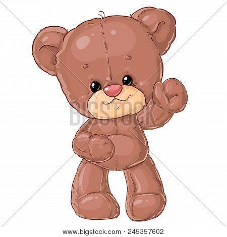 Teddy Bear. Children Character. Plush Friend. Cute Baby Clip-art.